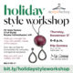 Holiday Style Workshop at Mia Gemma
